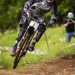 Photo of Greg MINNAAR at Mont-Sainte-Anne, QC