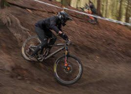 Photo of Jasper UPHILL at Wind Hill B1ke Park