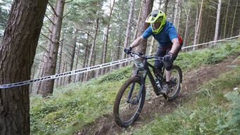 Photo of Brian COONEY (ebike) at Djouce, Co. Wicklow